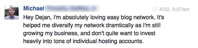 Facebook review from Michael T.
